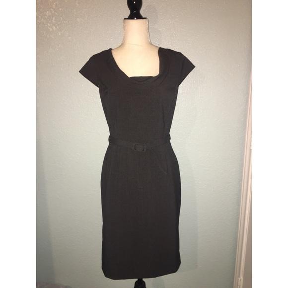 0145111f Calvin Klein Dresses | Belted Sheath Dress Cap Sleeves | Poshmark